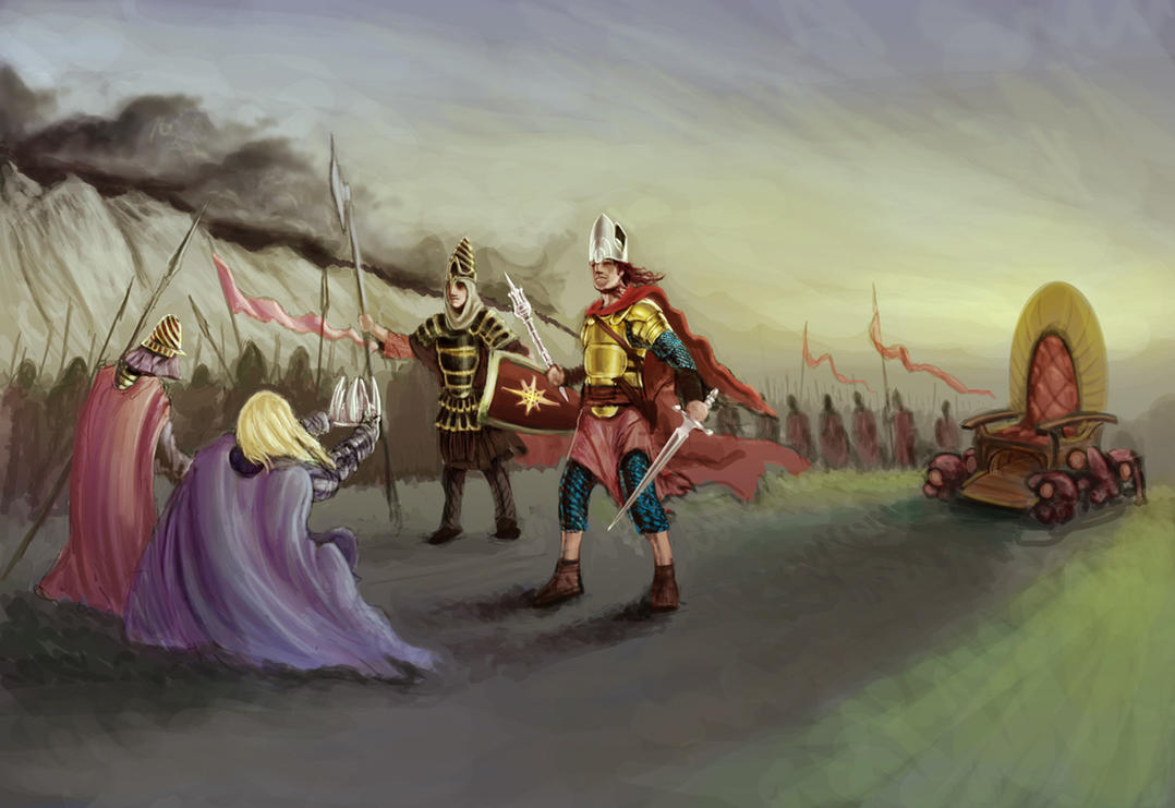Sauron Comes To Ar Pharazon By Demi Urgic On Deviantart