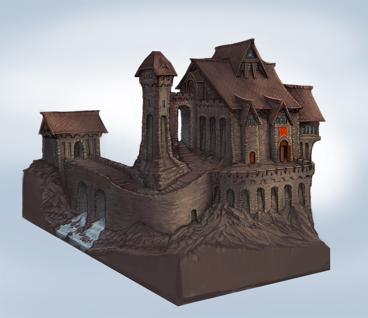 castle concept art by - photo #19