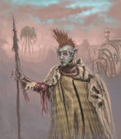 Dunmer in the Ashlands by Demi-urgic