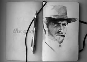 Clint Eastwood by MaryRiotJane