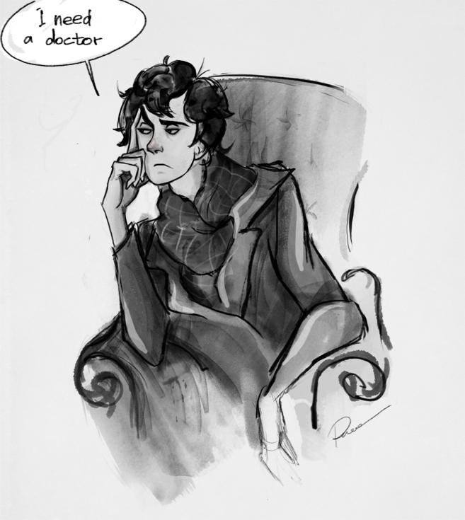 sketch sherlock by MaryRiotJane