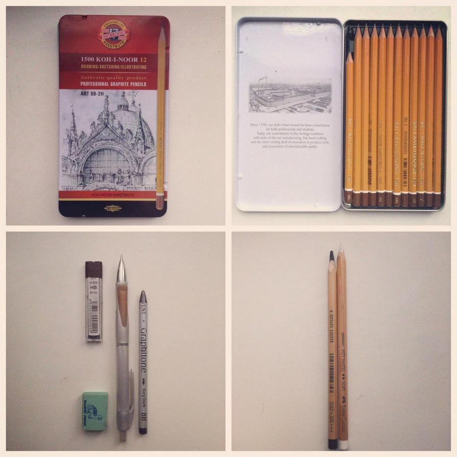 Favorite pencils by MaryRiotJane