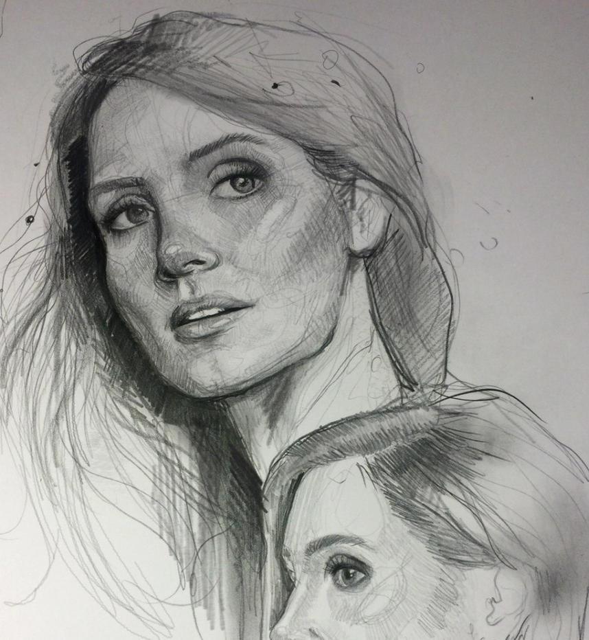 Jessica Chastain by MaryRiotJane