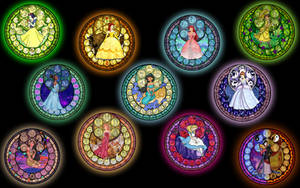 Stained Glass Princesses from Akili-Amethyst
