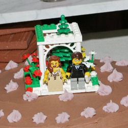 LEGO Wedding Cake Topper by b-spoke