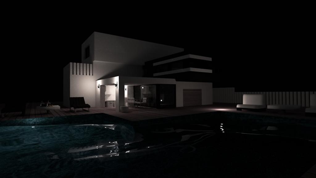 Casa moderna 3d by felivans on deviantart for Casa moderna wallpaper