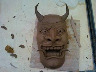 Oni Mask WIP by ThisUsernameFails