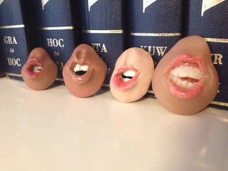 Mouth Brooches/Pendants by ThisUsernameFails