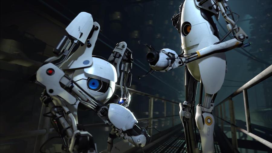 Portal 2 Coop Wallpaper 1 By Waygameplay