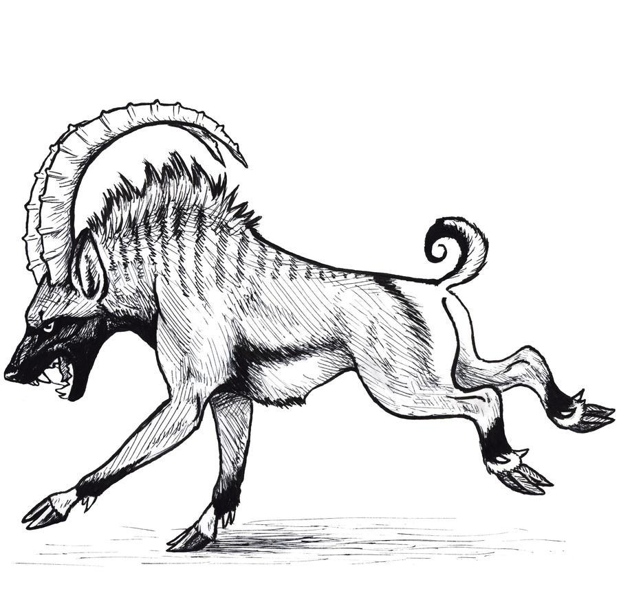 HyenaIbex by silvercrossfox
