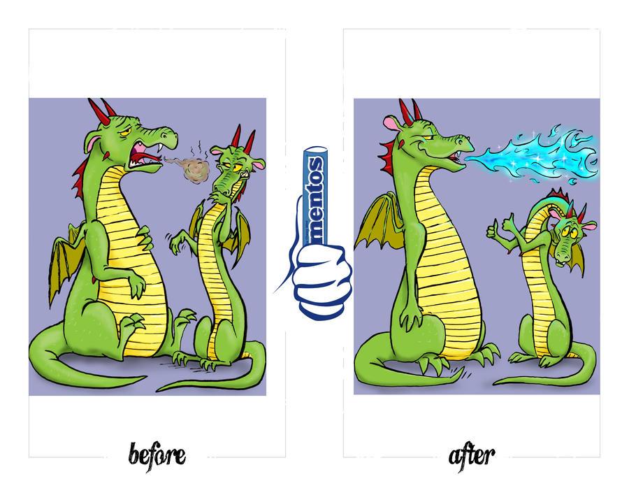 Fresh Breath Dragon by silvercrossfox