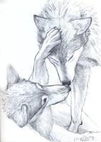 Wolves sketch by silvercrossfox