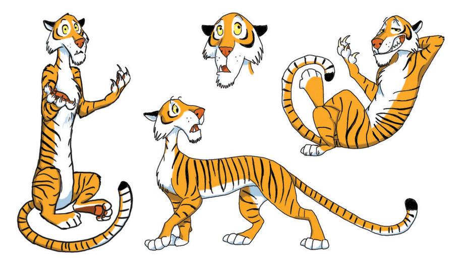tiger cartoon idea by silvercrossfox on deviantart