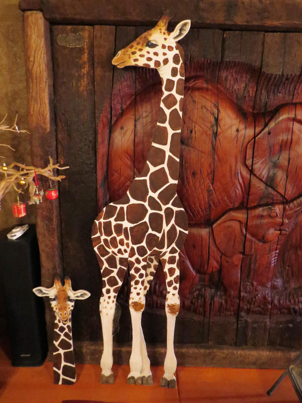 Twiga of Life Giraffe Painting by silvercrossfox