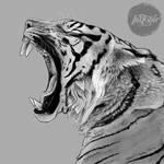 Inktober Day 25: Tired Tiger