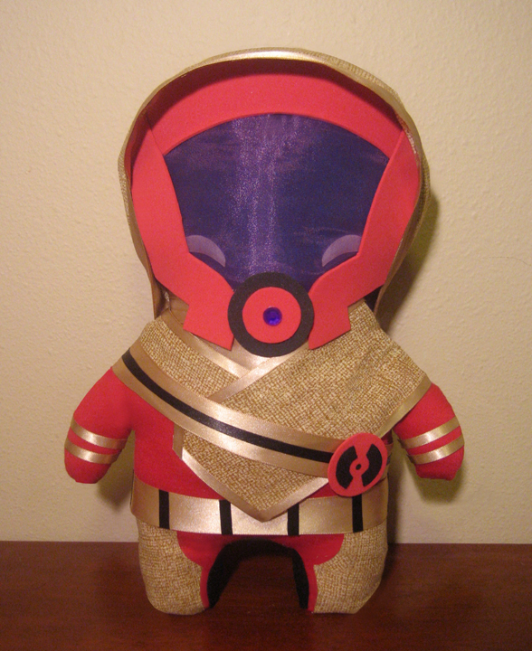 mass effect kal'reegar plush, chibi style! by viciouspretty