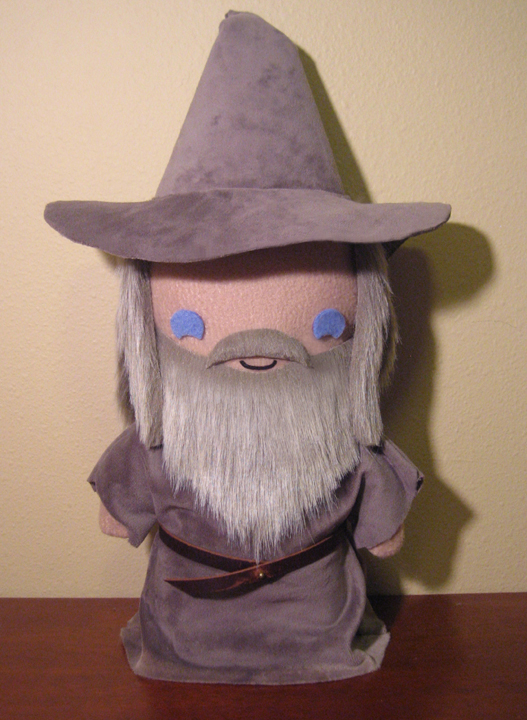 LoTR gandalf the grey plush, chibi style! by viciouspretty