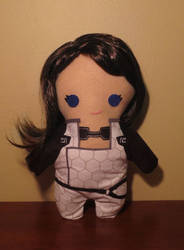 mass effect miranda lawson plush, chibi style!