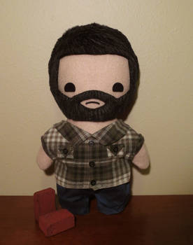 the last of us joel plush, chibi style!