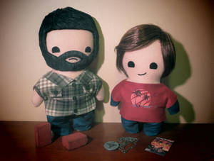 the last of us joel and ellie plush set!