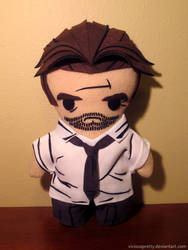 the wolf among us bigby plush, chibi style!