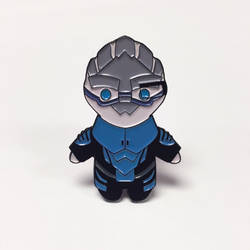 Mass Effect Garrus enamel pin.