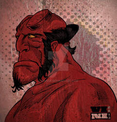 Hellboy Wall by ViniVix
