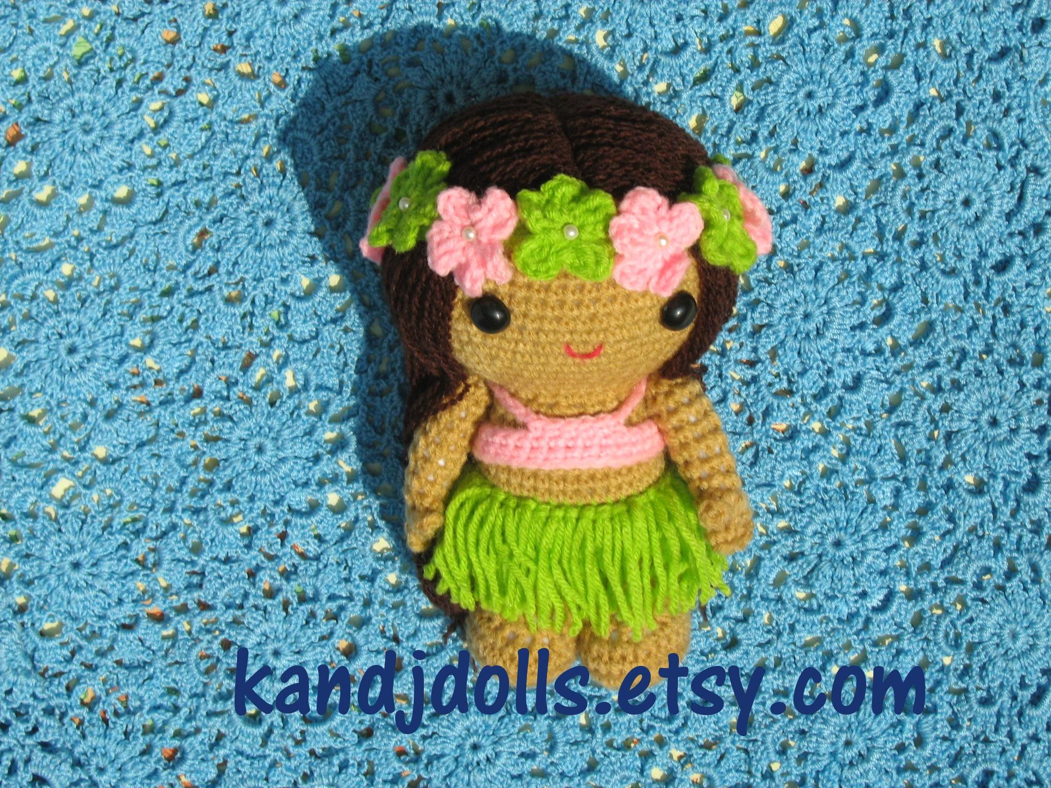 Amigurumi Hawai Doll : Anela the Hula Girl Amigurumi by kandjdolls on DeviantArt