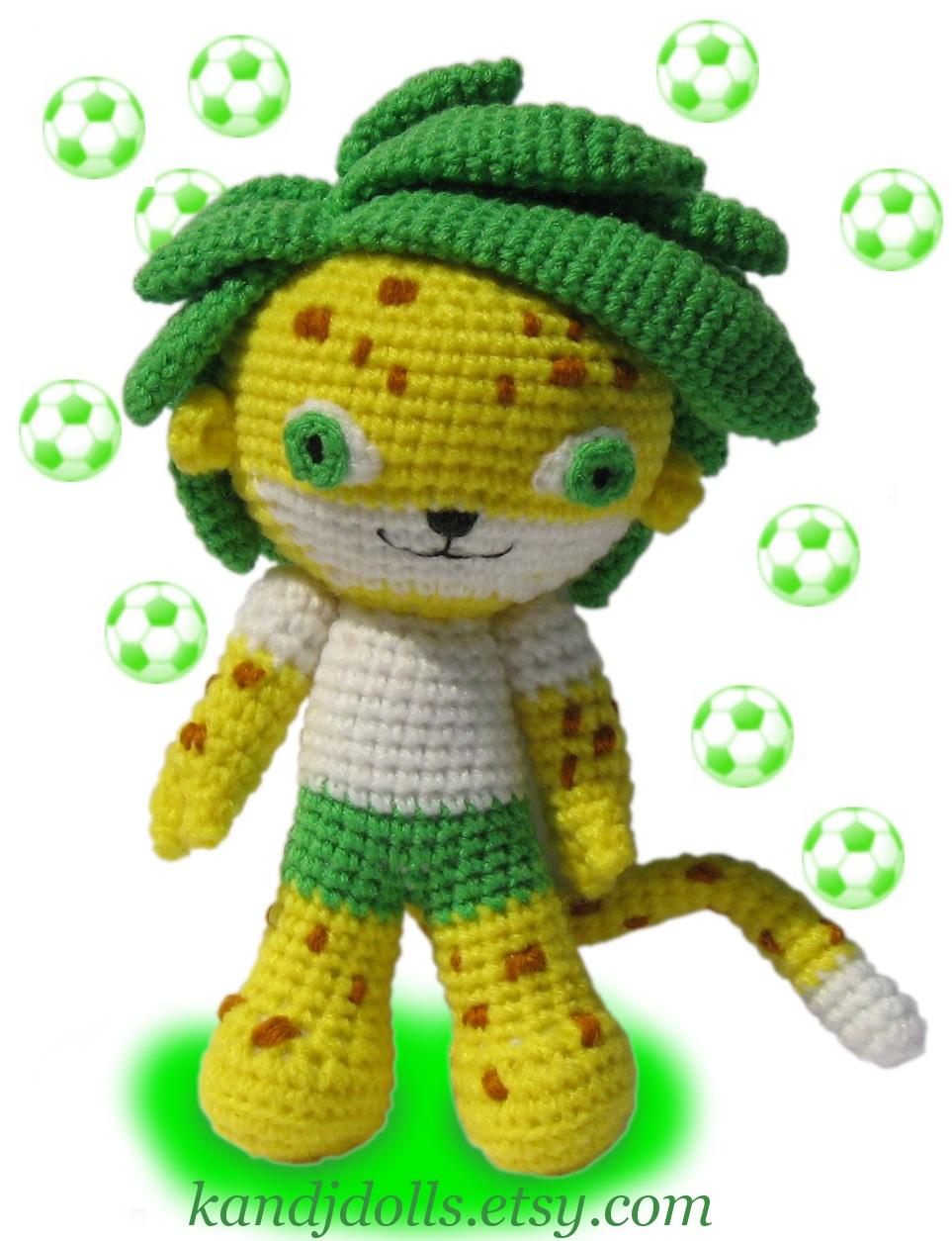 Zakumi Amigurumi cheetah by kandjdolls on DeviantArt
