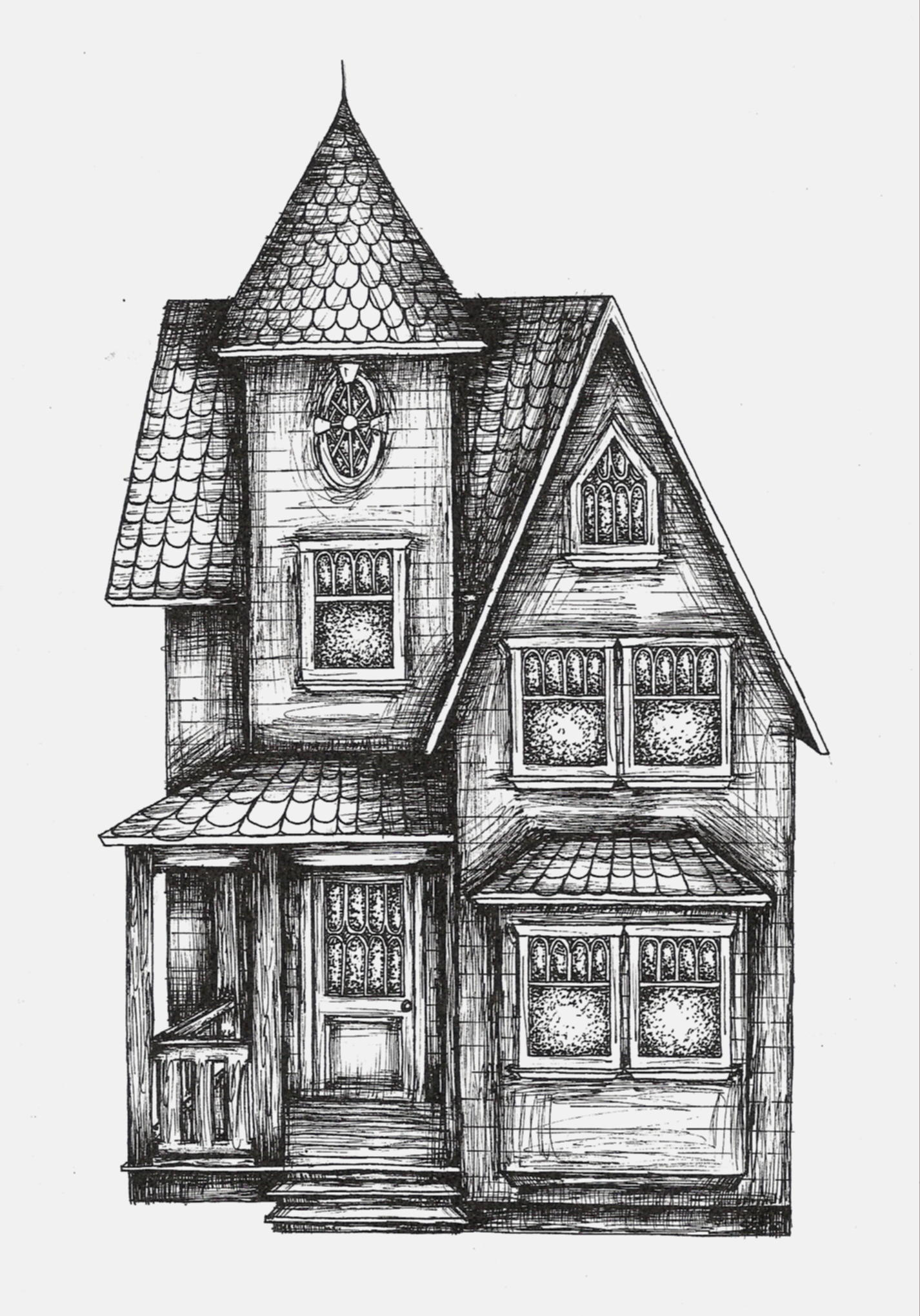 Line Drawing Of Your House : Victorian house by sarah on deviantart