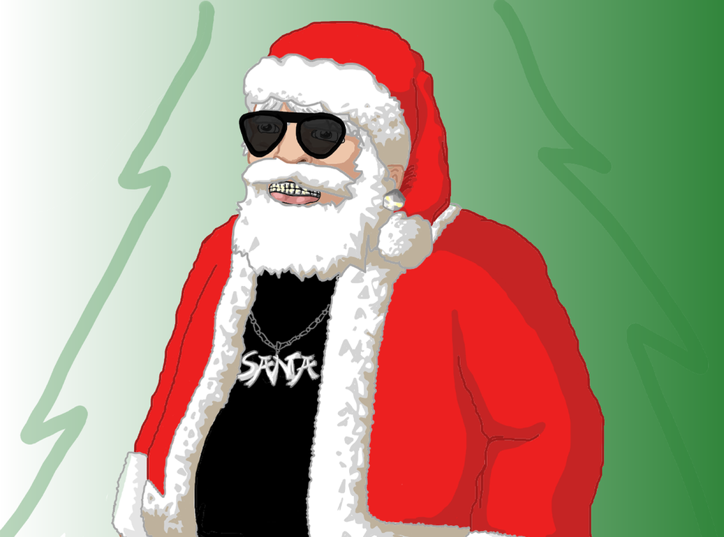 Santa Gone Gangsta by B0bJones on DeviantArt