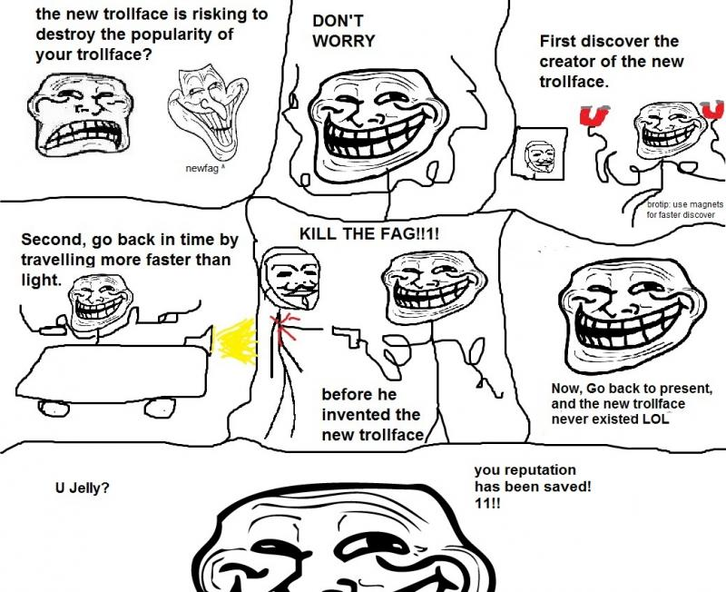 Troll face problem comics