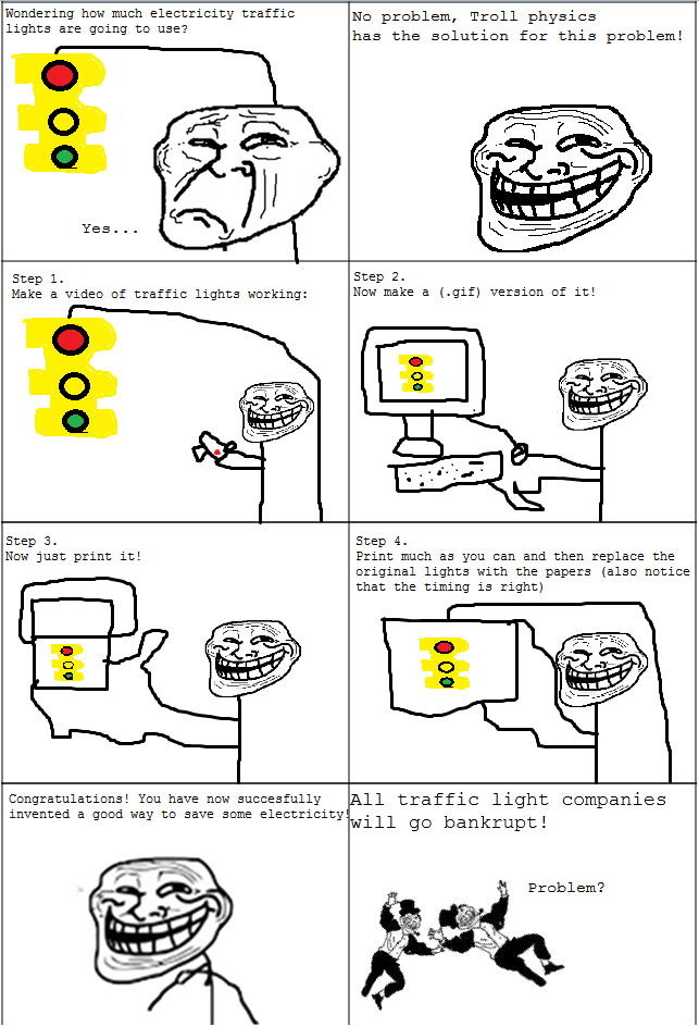 Troll Face comic Vol. 16: How to save electricty by ...