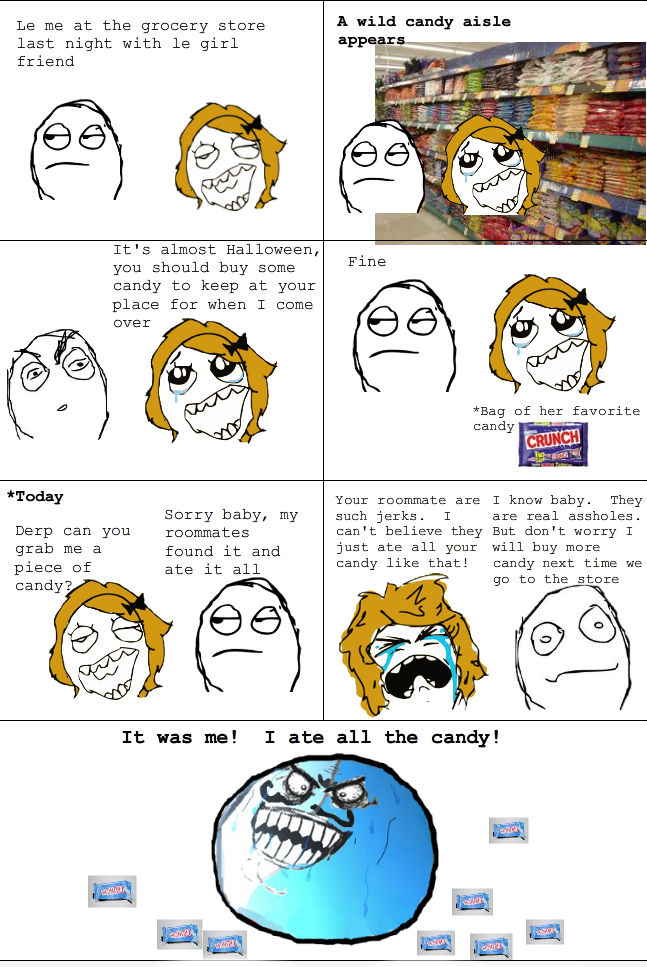 Troll Face comic Vol. 25: The candy eater. by Kyurem600 on ...