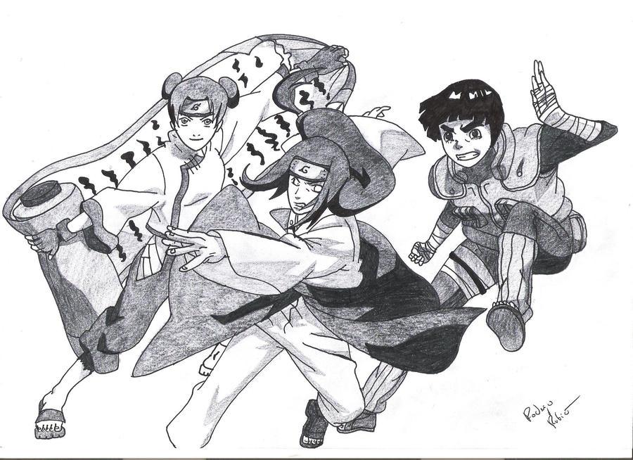 Sasuke Hebi VS Quinteto do Som Naruto___hyuuga_neji__rock_lee__tenten_by_rodrygu95-d5jfgya