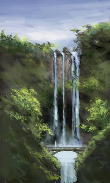 Water Fall - Sketch