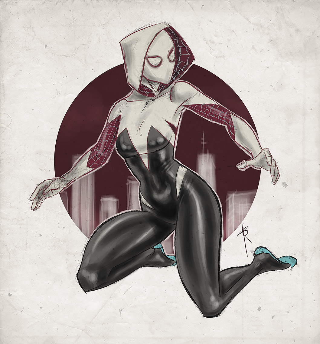 Gwen Stacy as Spider Woman by linxo on DeviantArt Ultimate Spider Man Peter Parker Costume
