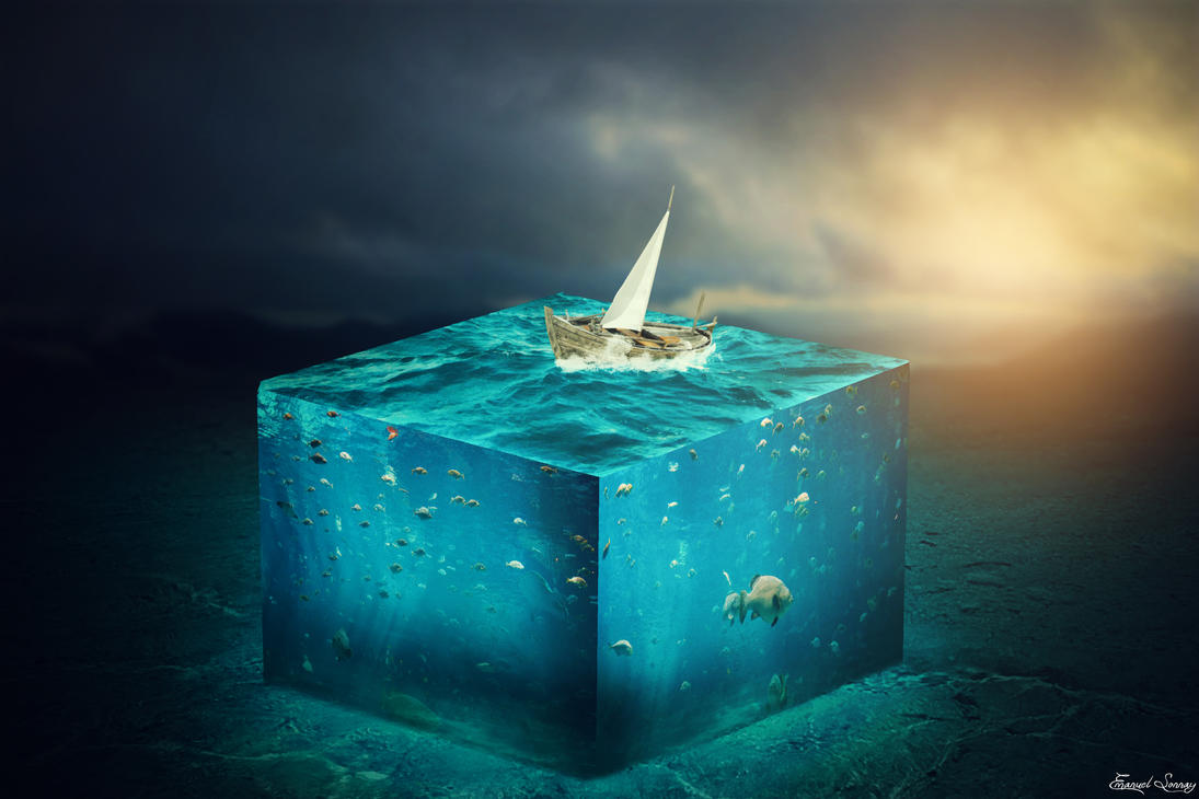3D Water Cube by ManuxGame