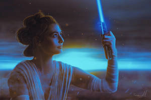 Rey finds the force! by ManuxGame