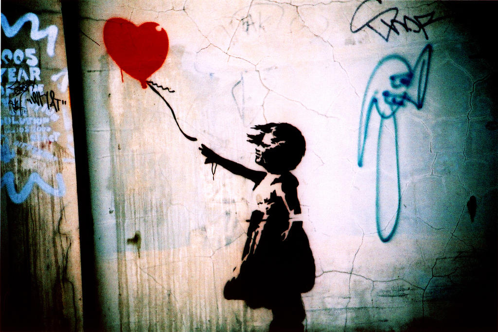 Banksy: Balloon girl