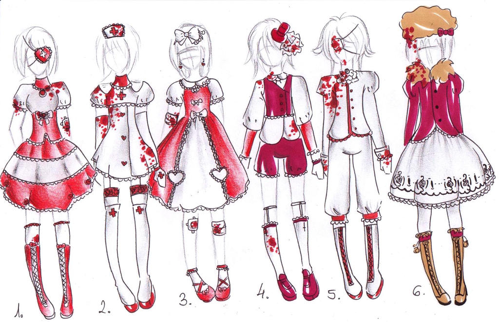 Guro outfits for your OCs -CLOSED- by bejja