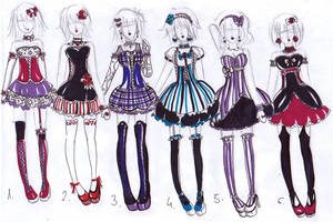 Goth outfits -CLOSED- by bejja