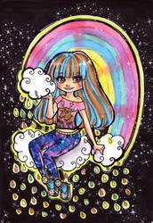 Sparkling Rainbow Raindrops by bejja