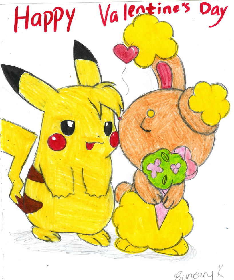Pikachu And Buneary Kiss Related Keywords - Pikachu And ...