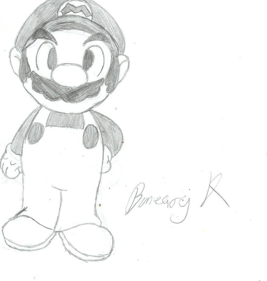 Mario Sketch By BunearyK On DeviantArt