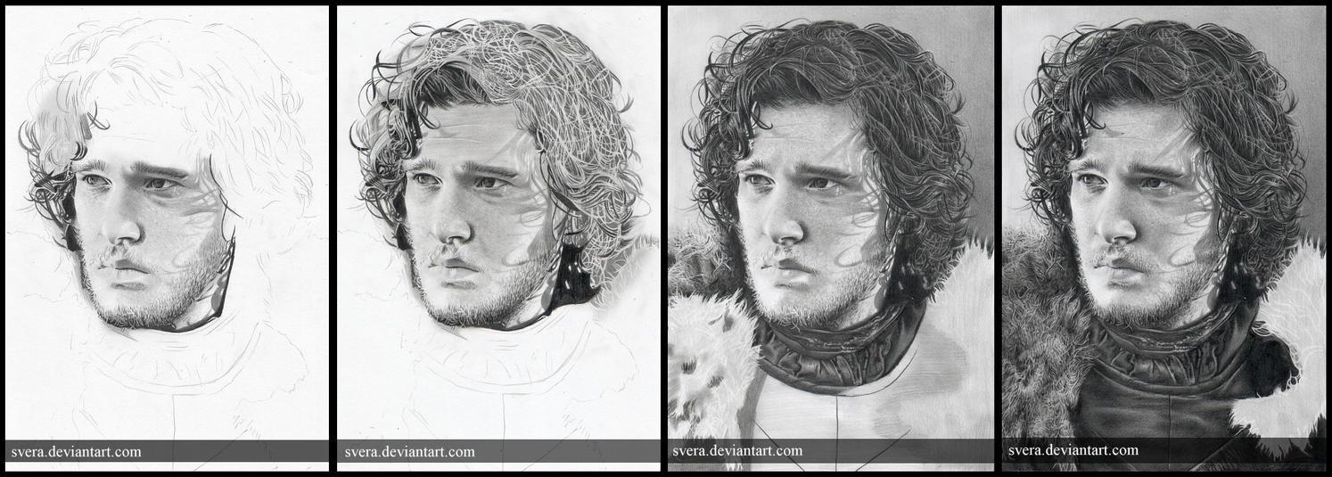 Jon Snow WIP by Svera