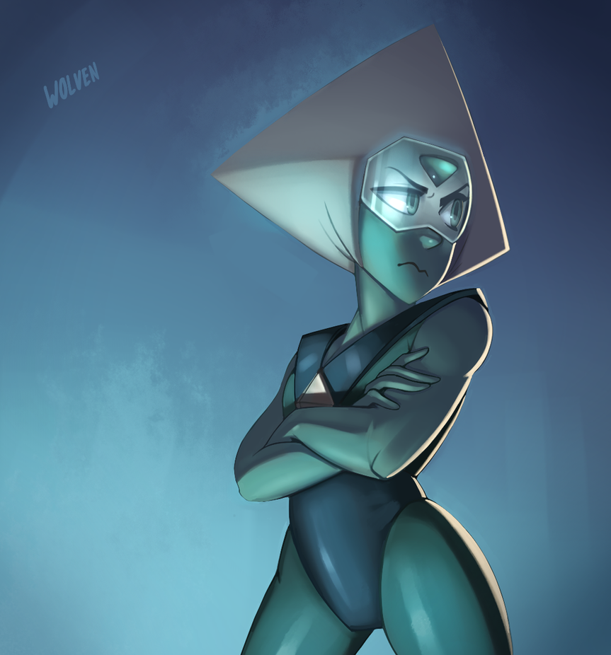 My favorite gem from Steven Universe, Peridot. I should just draw Peridot forever, honestly. This one posed some interesting challenges but I think I was able to work through it. The lighting, for ...