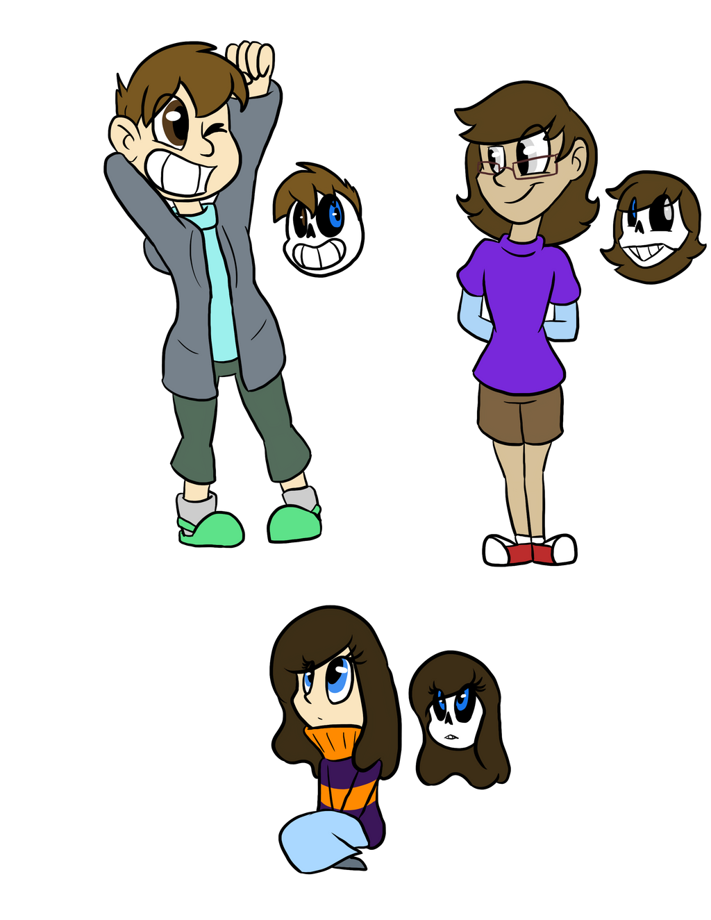 Frisk and Sans kids by Luckynight48 on DeviantArt