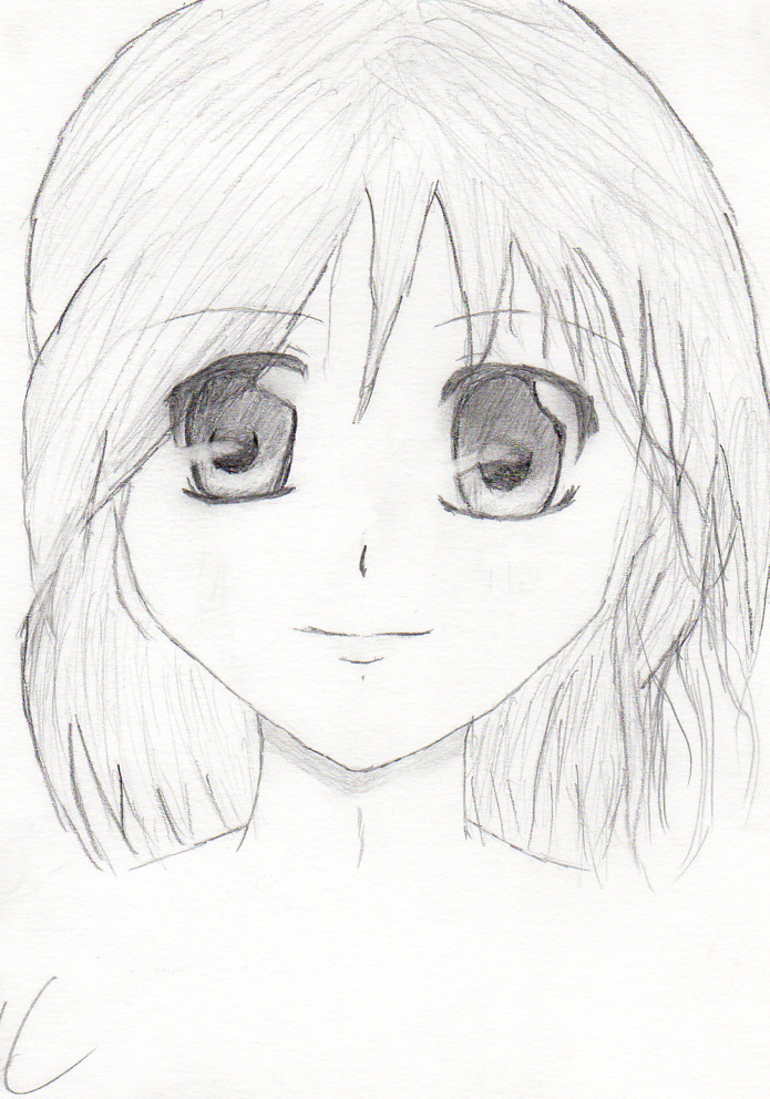 Simple Anime Girl By Mercedes97