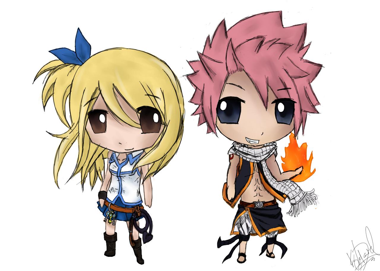 Chibi Fairy Tail: Natsu and Lucy. by justkyledavid on ...